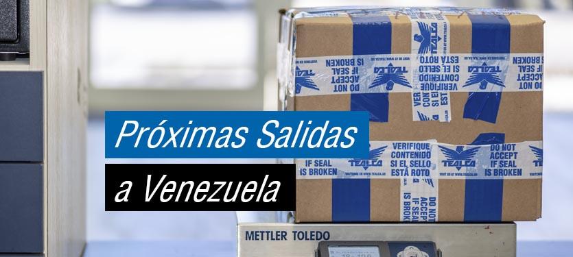 Proximas salidas envios aereos y maritimos a Venezuela